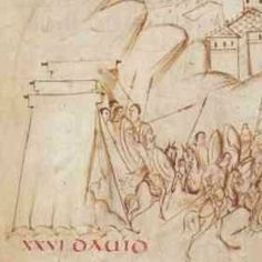 """A short study in """"Saxon"""" type tents from various Psalters. 7-11th (+) Centuries. - utrecht psalter"""