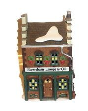 C/o Pam  Department 56 Dicken's Village Faversham Lamps and Oil Nobox Retired