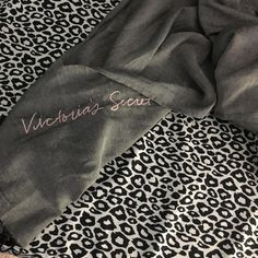 Vs scarf Selling my grey vs scar it's really cute I just own way too many send me your offers:) Victoria's Secret Accessories Scarves & Wraps