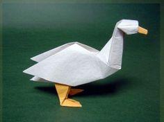 Goose Dave Brill Oragami, Origami Art, Origami Animals, Paper Folding, Paper Design, Art Forms, Creative Art, Paper Art, Poems