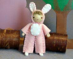 Bendy Doll by Princess Nimble-Thimble Waldorf Felt by PNTdolls