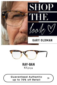 Eyeglasses Have a perfect look with Ray-Ban Clubmaster Eyeglasses - BROWN HAVANA Choose from Ray-Ban collections for variety of authentic Eyeglasses Ray Ban Optical, Ray Ban Men, Gary Oldman, Havana, Get The Look, Eyeglasses, Eyewear, Ray Bans, Mens Sunglasses