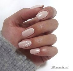 Nude color nail
