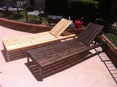 DIY lounger plans    Could use these for the pool deck and also in the lawn for outdoor movie nights! Just push them together and throw on some blankets & pillows. Love it!!