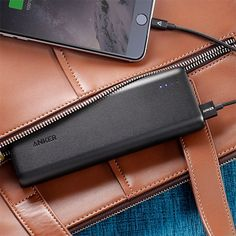 Anker PowerCore 20100 -- This little devil is the most compact 20,000mAh charger you've ever seen. So, 20K, that's enough juice to charge the iPhone 6 seven times, the Galaxy S6 five times or an iPad Mini twice. PowerIQ and VoltageBoost technologies combine to deliver the fastest possible charge & 4.8A output means you can charge multiple devices at once. $40