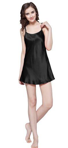 22 Momme Silk Nightgown for Women Mini Scoop Neck 100% Pure Silk By  LilySilk - e686c9909