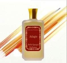 """Perfume Handcrafted """"Adagio"""" with the notes of smoked peach and apricot, light leather tone. 3.3 oz (100ml) Perfume for women and men."""