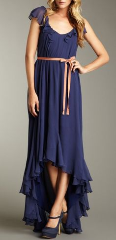 Ruffled Maxi Dress / elizabeth + james