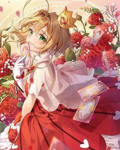 Sakura and roses [Card Captor Sakura] Anime Chibi, Fanarts Anime, Anime Characters, Cardcaptor Sakura Clear Card, Sakura Card Captor, Sakura Kinomoto, Anime Angel, Ange Anime, Manga Kawaii