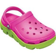 5c4df7ff165e1 Crocs Duet Sport Clog in Neon Magenta Volt Green