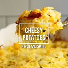 Cheesy Potatoes Easy Cheesy Potatoes are easy to make from scratch! This decadent casserole is baked in the oven and makes the perfect side for get togethers with family and friends and holidays too! No canned soup or frozen hash browns required! Breakfast For Dinner, Best Breakfast, Breakfast Recipes, Breakfast Ideas, Breakfast Hash, Potato Dishes, Food Dishes, Side Dishes, Potato Rice
