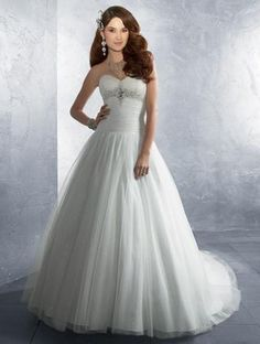 Alfred Angelo 2186  I actually really like this one....Simple, with bling on the bodice.