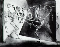"""Dance - Salvador Dali 1944. """"The body says what words cannot."""" ~Martha Graham"""