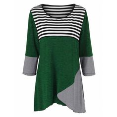 Plus Size Striped Tunic T-Shirt