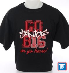 Cool t-shirt design for 2016 Seniors. GO B16 or Go Home! shirt design. Distressed for a vintage look.  Created using screen printed transfers and a heat press.  www.transferexpress.com