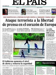 el pais Charlie Hebdo, January 8, The Eighth Day, News, Thursday, Twitter, Raiders, Printing Press, Political Freedom
