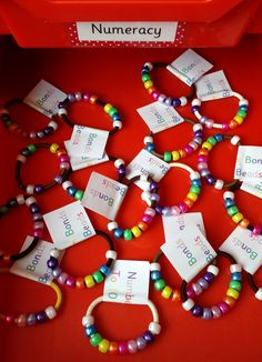Number Bonds to Ten beads - Slide the beads side to side to see various ways of making 10