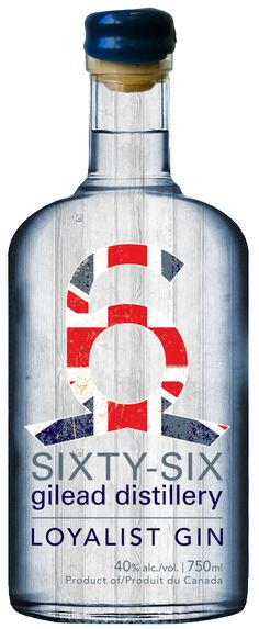 Ooooh here's another one Loyalist Gin | 66 Gilead Distillery Sixty-six Gilead Distillery. Clever #branding #packaging PD