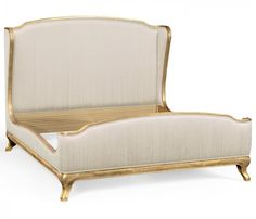 small rushmore Louis XV French style bed (US King/Silk/W1–F2)