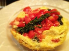 Leek and Spinach Frittata with Tomatoes: 10/7/13