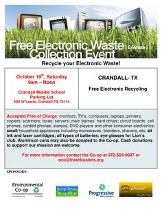 Electronic Waste Collection!!  FREE!!!!
