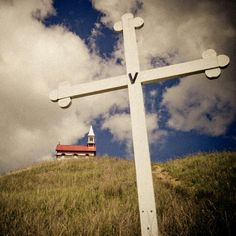 The Church on the Hill. The Cross Of Christ, Old Churches, Holy Ghost, Ghosts, Crosses, Canada, Landscape, History, Travel