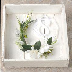 Orchid Flower Crown, White Wedding Headpiece, Floral Head Wreath, Bridal Headband, Wedding Hair Piece, Leaf and Fern Circlet, Halo Headdress by VelvetTeacup on Etsy