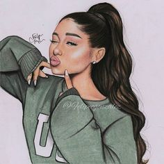 @arianagrande ❤❤ // pls tag her and follow my personal @felipegoca if you want🙈😊 // I ruined the hair and the sweater lol I was so damn tired sorry... But still cute👀 hope you like it!😍
