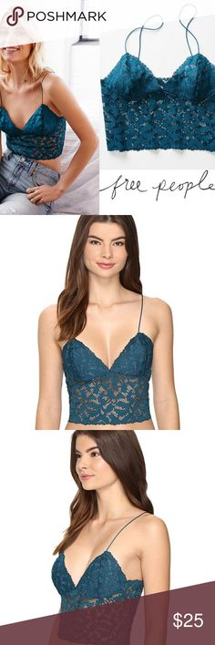 *ONE HOUR SALE*  Lacey Lace Brami Cropped Bralette Lacey Lace Brami Cropped Bralette   Leafy lace envelops this light, delicate bralette extending down the torso for a flattering peekaboo effect.  This cami-inspired bralette is a wardrobe essential Mirror your shape in mesh-lined demi cups Reinforced stitching under bust for subtle lift Thin spaghetti straps are non-adjustable No closure - goes on over the head Luxurious stretch lace  90% nylon, 10% spandex. Machine wash cold, line dry. By…