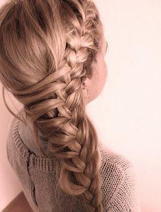 lovely braid for long hair