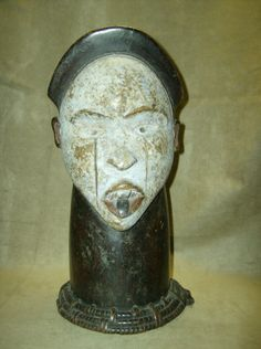 YOMBE Headdress Tribal Mask African Art Collectibles