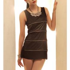 Layering Round Neck Sleeveless Dress