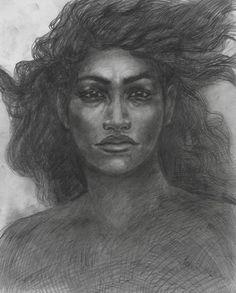 """Pele"" by Native Hawaiian Artist, Solomon Enos  #NativeArt  #NativeArtists  #HawaiianArt  #MadeInHawaii  #Hawaii  #Art"