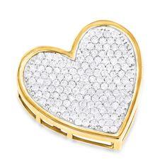 Heart Pendants 14K Designer Diamond Heart Pendant 1.4ct