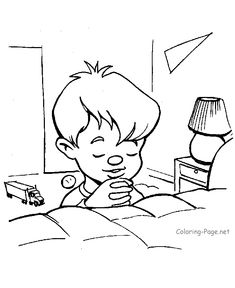 Coloring pages prayer coloring page praying children to for Praying boy coloring page