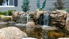 A weathered limestone waterfall built in Valley NE is perfect for #waterfallwednesdayNeptune's Water Gardens is the premier water feature design and installation company in the #Omaha Metro area. Our naturally balanced low-maintenance ecosystem ponds work with Mother Nature not against her. We pride ourselves in creating water features that appear to have always existed in their surrounding landscape. Whether you choose an ecosystem #pond decorative #fountainscape #Pondless #Waterfall or the…