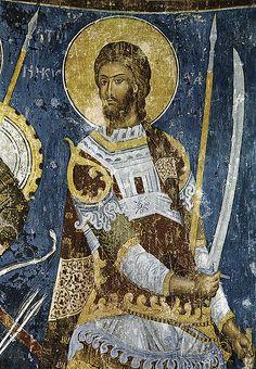 Sveti ratnik Nikita, freska u manastiru Manasija (1413-1418)