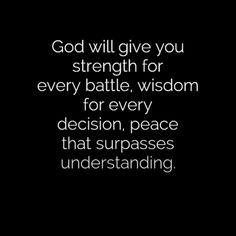 Peace that passes understanding...