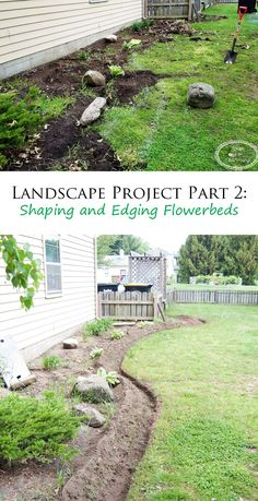 Landscape Project Part 2: Shaping And Edging The Flowerbeds
