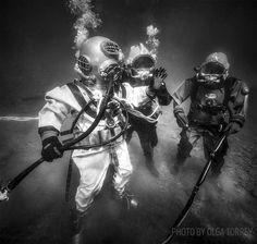 scuba diving vintage gear
