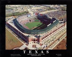 Ballpark in Arlington Aerial Poster