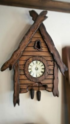 Clocks - wall clocks, birthday present, home decoration, lovely timepiece - - Diy Clock, Clock Decor, Wooden Projects, Wood Crafts, Wooden Couch, Cool Clocks, Wall Clock Design, Antique Clocks, Art Antique
