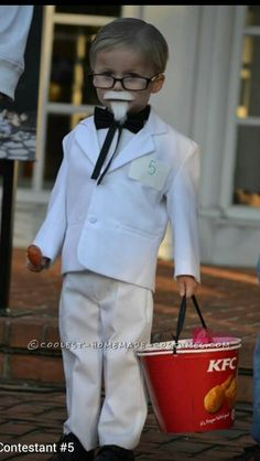 Original Homemade 'Lil Colonel Sanders Costume… Coolest Online Halloween Costume Contest