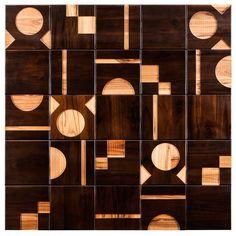 Azulejos de madeira da designer  Renata Rubim