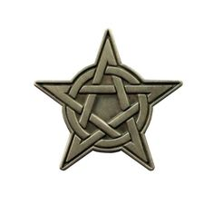 Antique Silver Pentacle Pin