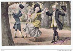 Illustrateur Willms Danse , Menuet , Costumes 18eme - Illustrateurs & Photographes