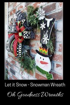If the Snow is one of your Winter Favorites, then check out this Let it Snow Winter Wreath. If you are looking for a unique housewarming gift, birthday gift for that person who loves snowmen, then this lil beauty is sure to do the trick. OG Wreaths' décor items are crafted with the upmost attention to detail, using only quality material and sprinkled with LOVE....