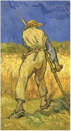Reaper (after Millet), The by Vincent Van Gogh   Painting, Oil on Canvas   Saint-Rémy: September, 1889