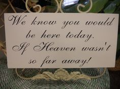 Wedding memory sign by SweetDayDesigns on Etsy, $24.95