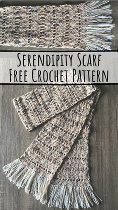 This scarf is a breeze to make, perfect for beginners. This pattern is written to make a scarf that is long enough to wrap around loosely once, or twi. Crochet Scarves, Crochet Shawl, Crochet Clothes, Easy Crochet, Free Crochet, Irish Crochet, Crochet Things, Crochet Mitts, Crochet Kids Scarf